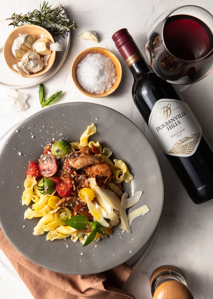 Duck Ragu Pasta paired with Durbanville Hills Pinotage