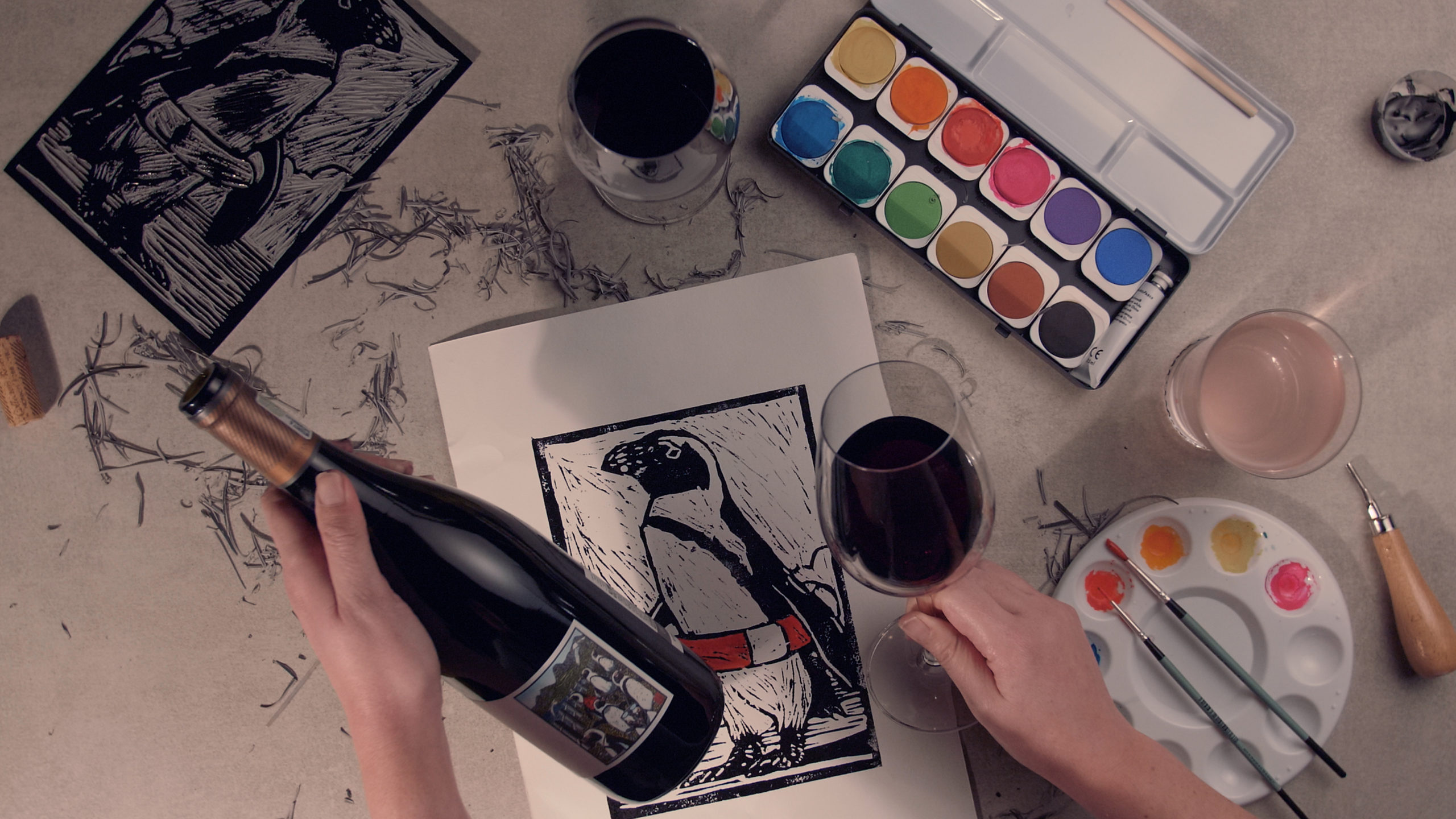 Lino and vino virtual art kit by durbanville hills presented by theo vorster